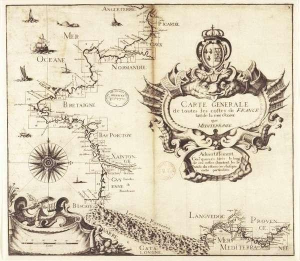 Carte ancienne de la France