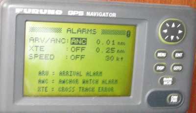 Alarme avec le GPS