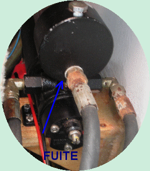 fuite pompe LECOMBE & SCHMITT