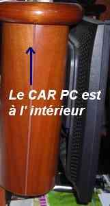CAR PC encastré derrire l' écran