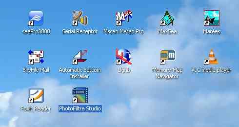 logiciels installés sur le PC de Nav